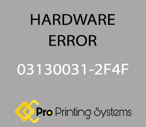 simulated screen image of hardware error 03130031-2F4F