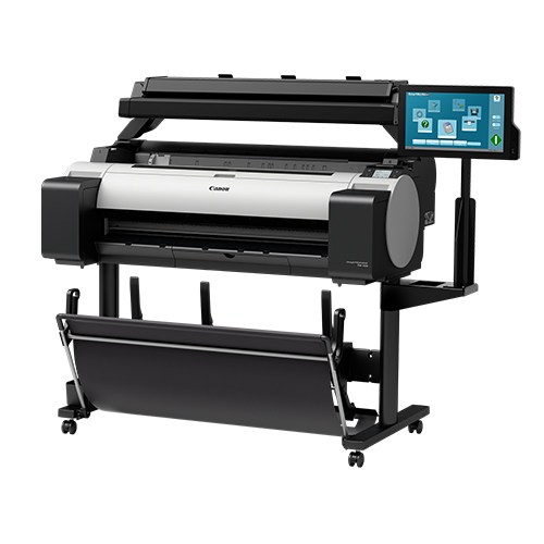 Canon-TM-300-MFP-T36-On-A-Stand-Front-Right-Slant-View