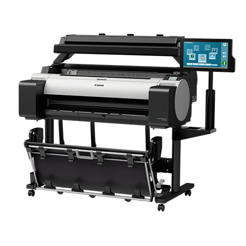 Canon-TM-305-MFP-T36-On-A-Stand-Front-Right-Slant-View