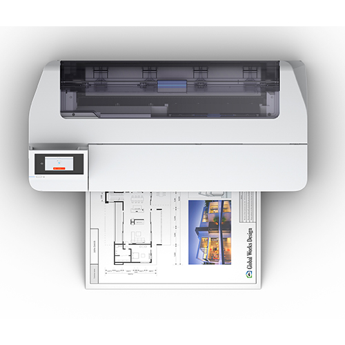 Epson SureColor T2170 Top View With Print