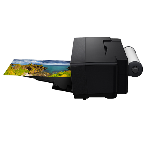 Epson-SureColor-P400-Printing-From-Roll-Feed-Right-Side-View