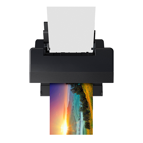 Epson-SureColor-P400-Printing-With-Paper-Feed-Open-Top-View