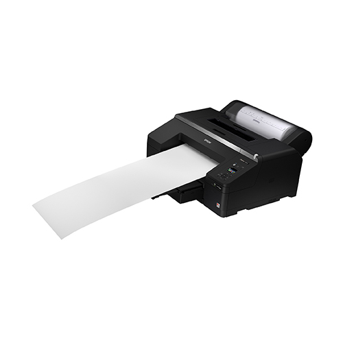 Epson-SureColor-P5000-Printing-Blank-Paper-Front-Right-Corner-View