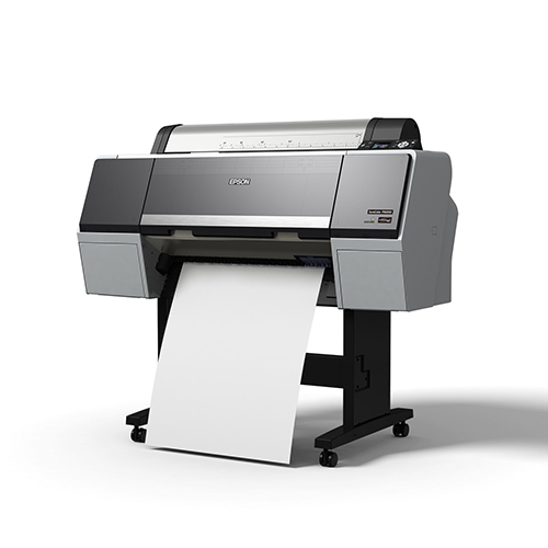 Epson-SureColor-P6000-On-A-Stand-Printing-Blank-Paper-Front-Right-Corner-View
