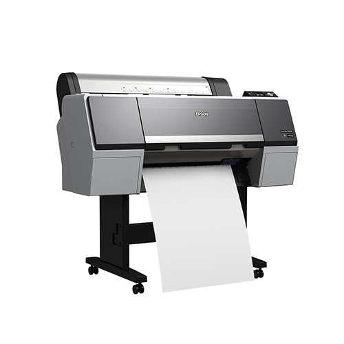 Epson-SureColor-P6000-On-Stand-Printing-Blank-Paper-Front-Left-Corner-View