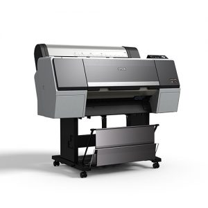 Epson-SureColor-P6000-With-Stand-And-Basket-Front-Left-Corner-View
