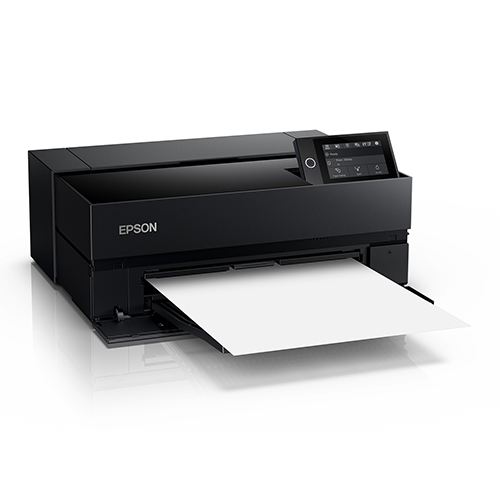 Epson-SureColor-P700-Closed-Printing-Blank-Paper-Front-Left-Corner-View
