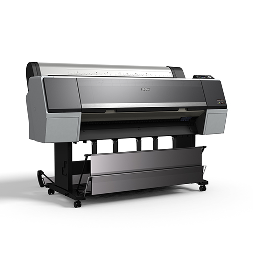 Epson-SureColor-P8000-With-Stand-And-Basket-Front-Left-View
