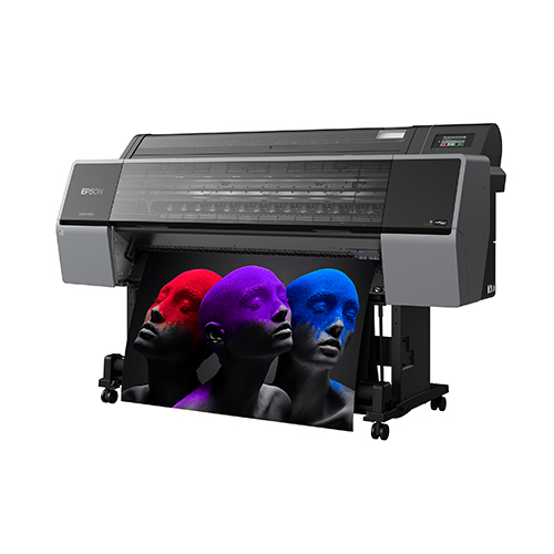 Epson-SureColor-P9570-Printing-Colorful-Photo-Front-Right-Corner