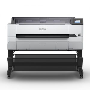 Epson-SureColot-T5470-With-Stand-And-Catch-Basket-Front-View
